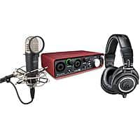 Adorama Deal: ATH-M50x Headphones + Focusrite 2i2 Pre-amp + Samson Mic