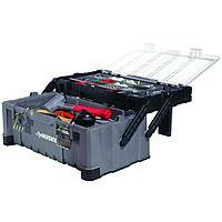 """Husky 22"""" Cantilever Plastic Tool Box w/ Metal Latches"""