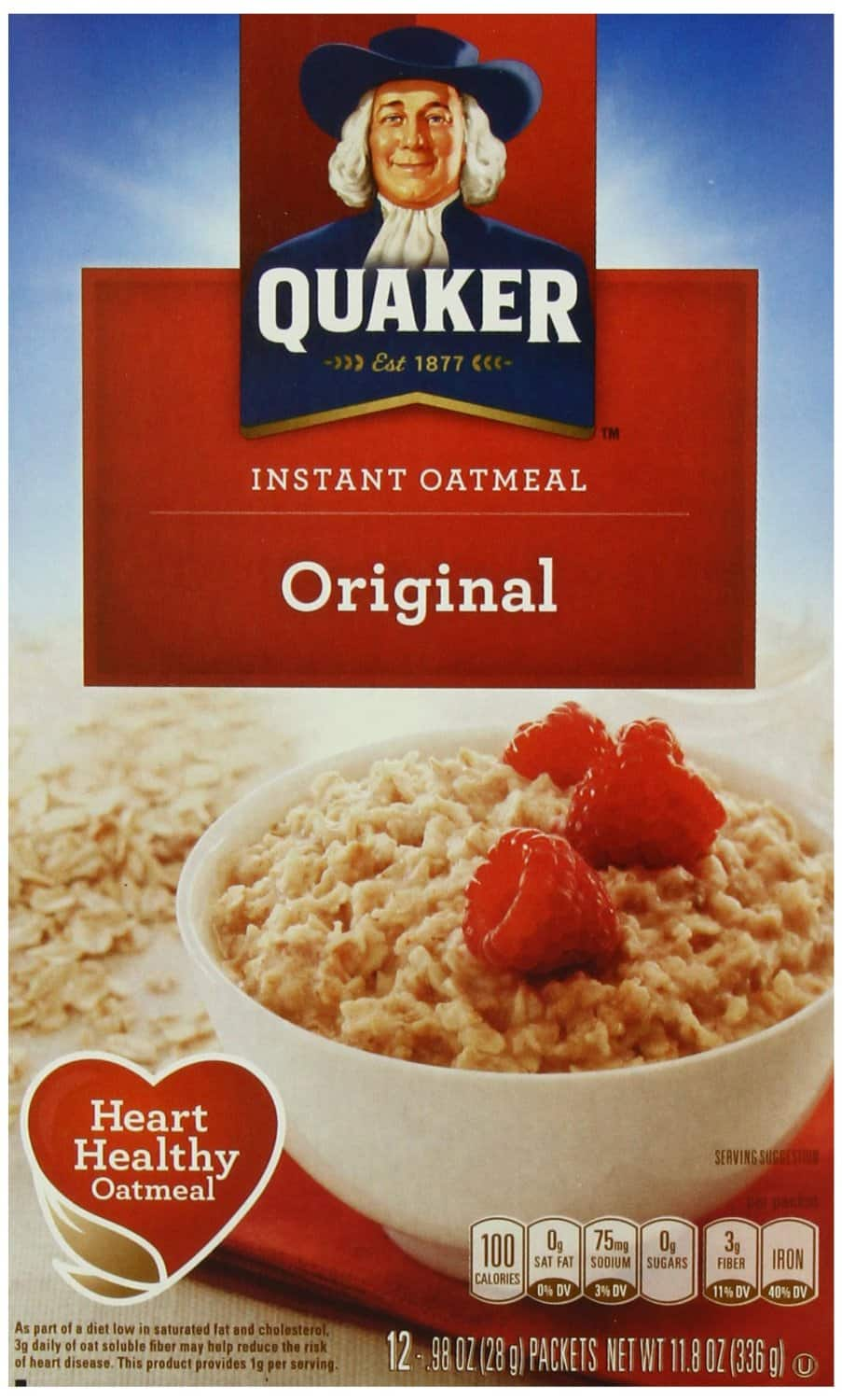 40ct Quaker Oatmeal $7.50 or 36ct Quaker Granola Bars (Various Flavors): From  $8.50 + Free Shipping