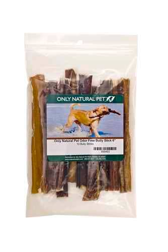 "10-pack 6"" Only Natural Pet Free Range Low Odor Bully Sticks $10 with free shipping ($1/stick)"