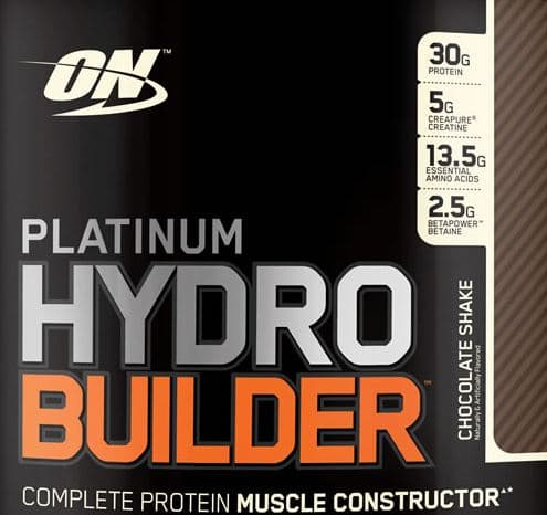 Optimum Nutrition Platinum Hydro Builder Chocolate Shake, ~4.6lbs for $20 shipped