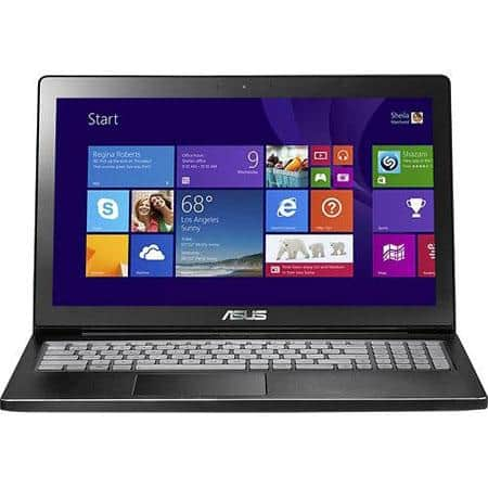 """*back & lower* ASUS 15.6"""" TouchScreen Laptop (Refurb): i5 4200U, 8GB DDR3, 750GB HDD win 8, Backlit Keyboard & more $450 After $30 rebate + Free Shipping"""