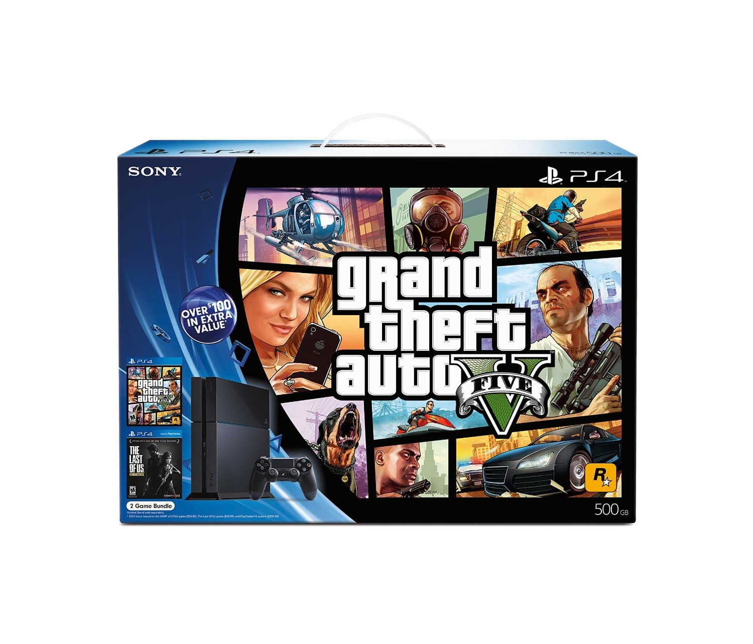 Sony PlayStation 4 Console Bundle w/ The Last of Us and Grand Theft Auto V  $400 & More + Free Shipping