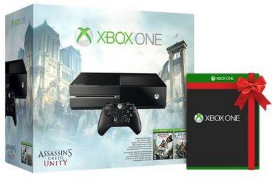 Xbox One Console Assassin's Creed Unity Bundle + Bonus Game  $329 + Free Shipping