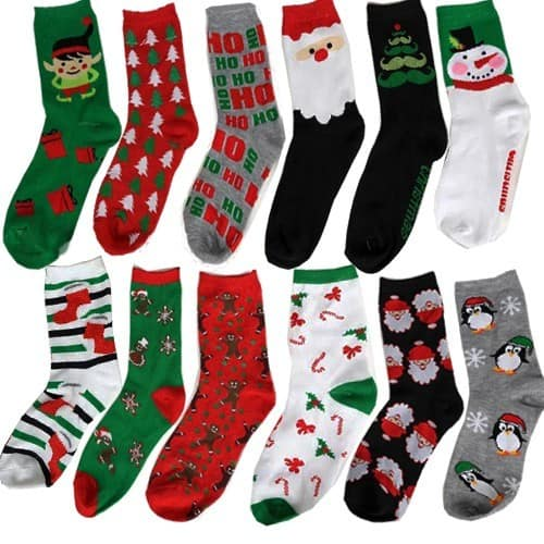 3-Pairs of Women's Christmas Style Socks: Santa, Elfs, Snow Man & More Assorted Styles $2.99 + Free Shipping