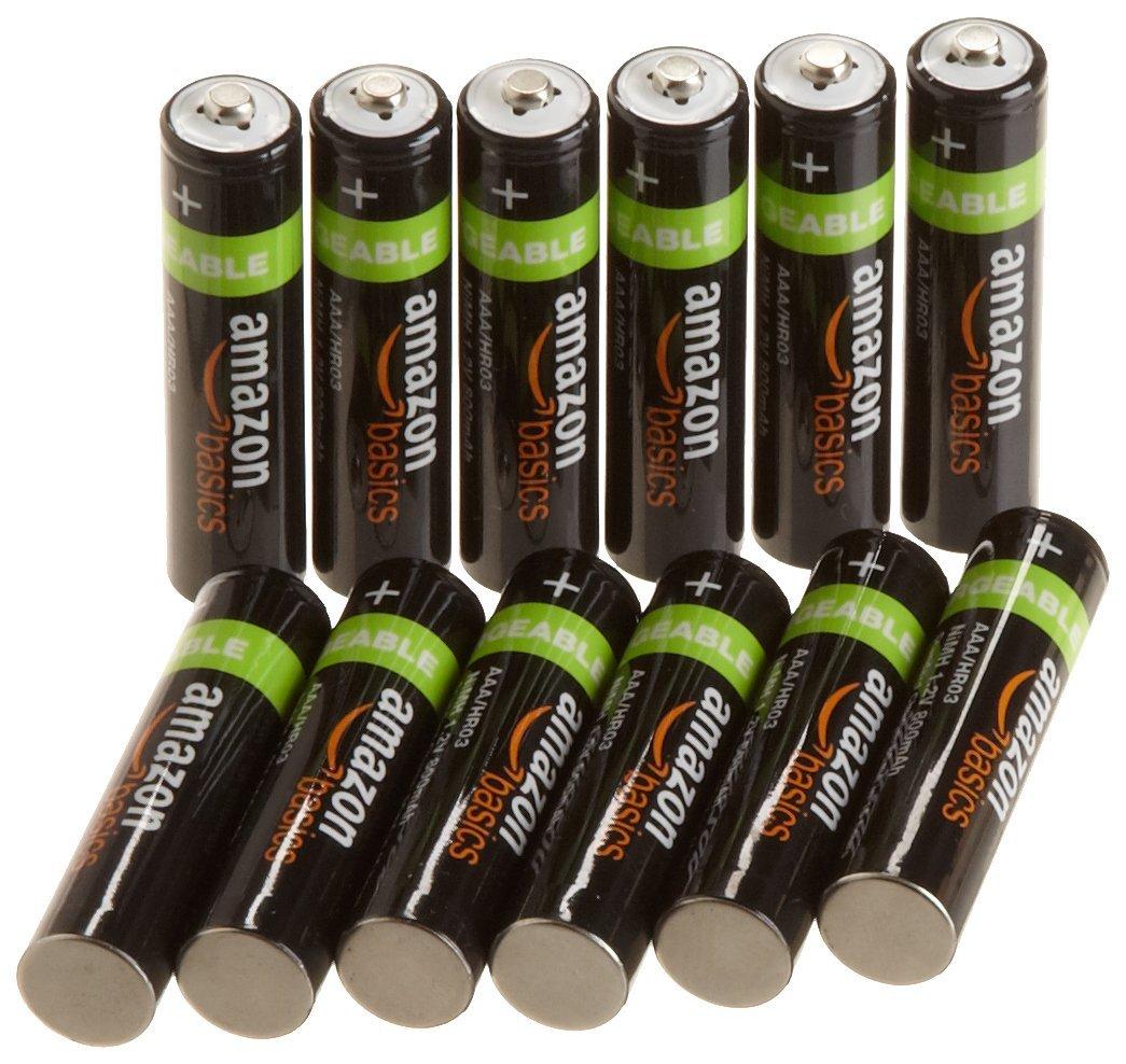AmazonBasics AAA NiMH Precharged Rechargeable Batteries (12-Pack, 800 mAh) $9.99 sss eligible @ amazon / LDs!