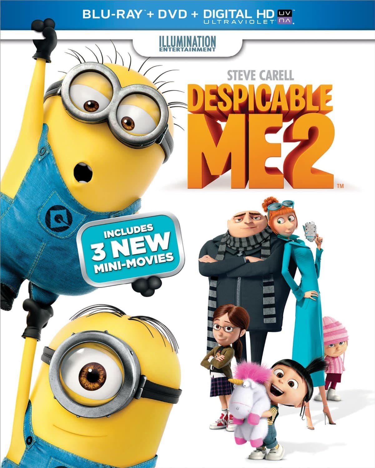 Despicable Me 2 or How to Train Your Dragon 2 (Blu-ray + DVD + Digital HD) $10 Each @ Amazon