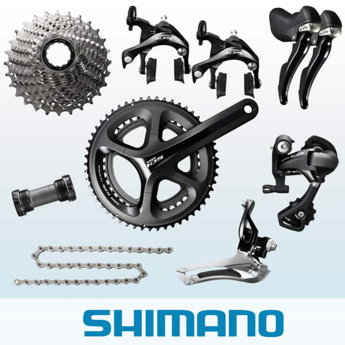 $338.27 Full 11-speed Shimano 105 5800 Black groupset w/ semi compact 52-36T crankset FS worldwide 3-5 days