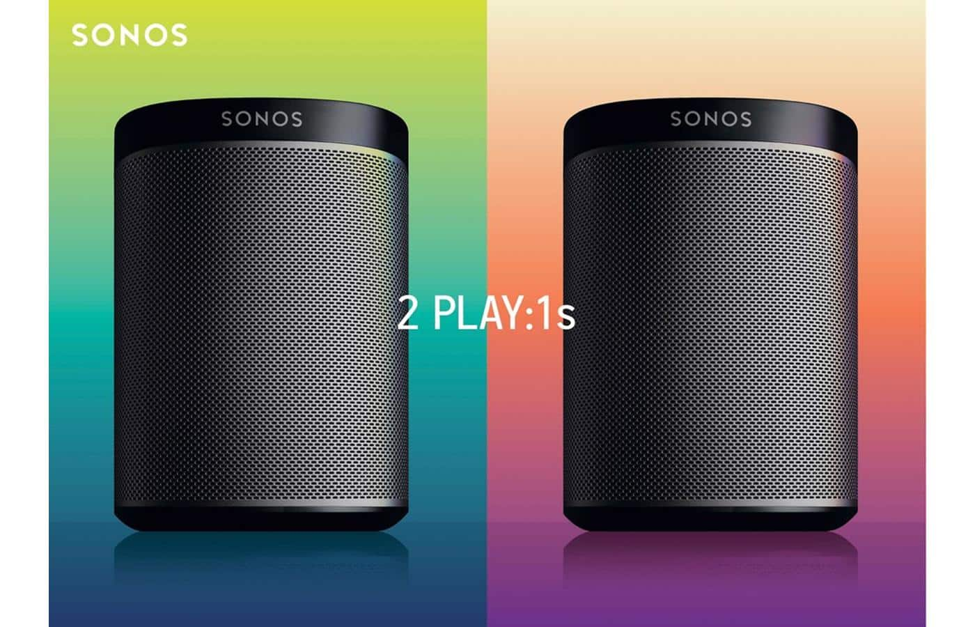 Sonos PLAY:1 Starter kit (2 PLAY:1 wireless powered speakers) - 349$ + no tax (except VA) + FS