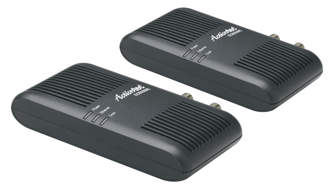 Actiontec Ethernet over Coax Adapter Kit for Homes without MoCA Routers $79.99 twin pack amazon.com