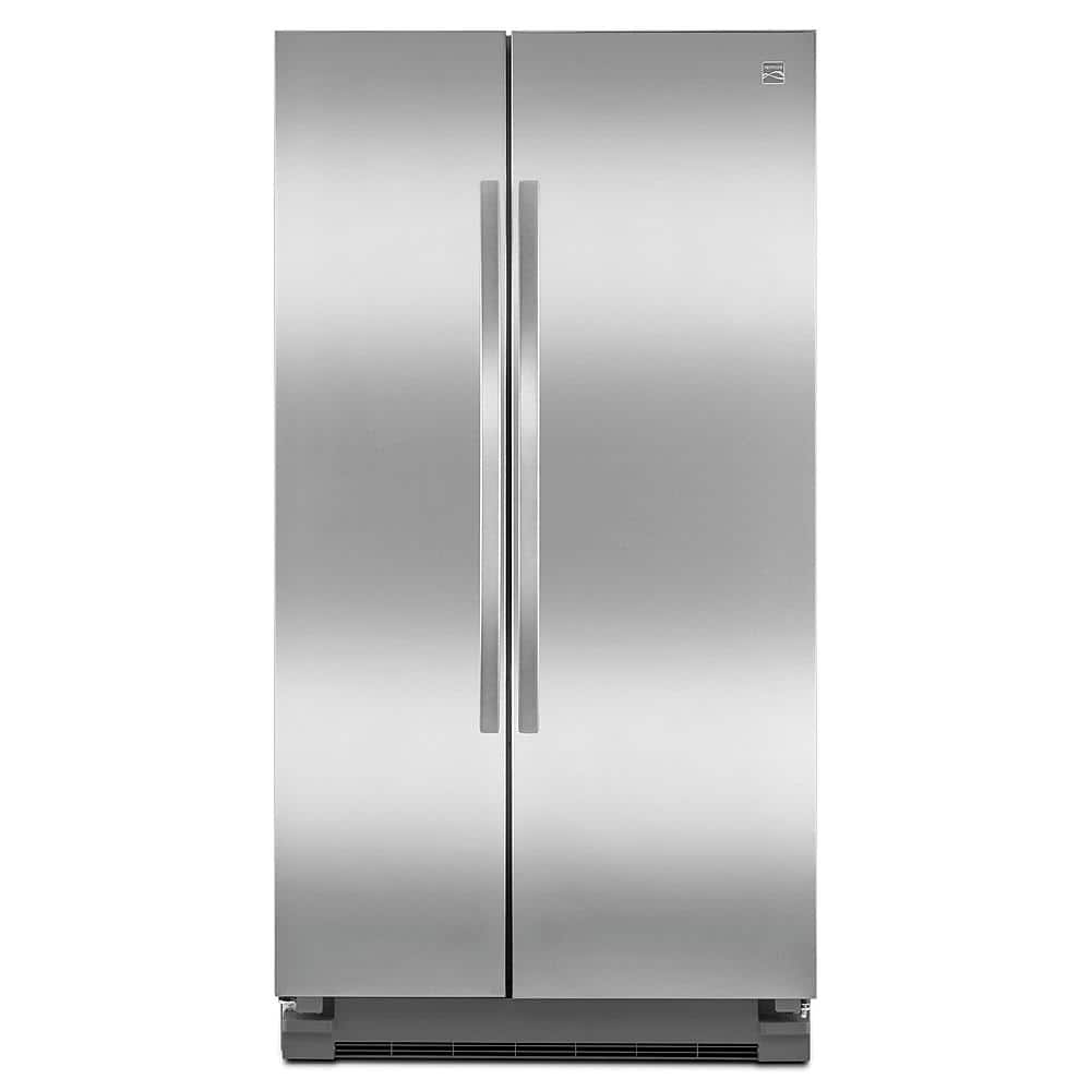 Kenmore 25 cu. ft. Side-by-Side Refrigerator - Stainless Steel/Black $673 AC+FS@Sears
