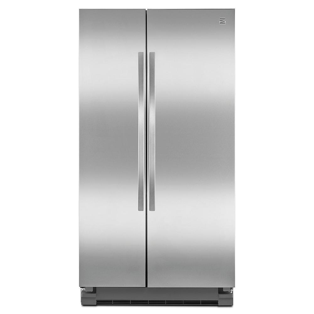Kenmore 25 cu. ft. Side-by-Side Refrigerator - Stainless Steel/Black $673 AC+FS@Sears