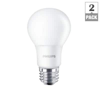 2-Pack Philips 60W Equivalent A19 LED Light Bulb (Soft White)  $5 + Free Store Pickup