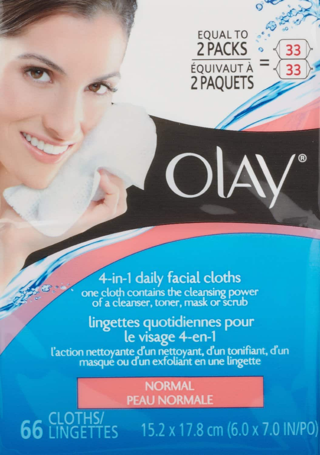 66-Count Olay 4-in-1 Daily Facial Cloths (Normal Skin)  $5