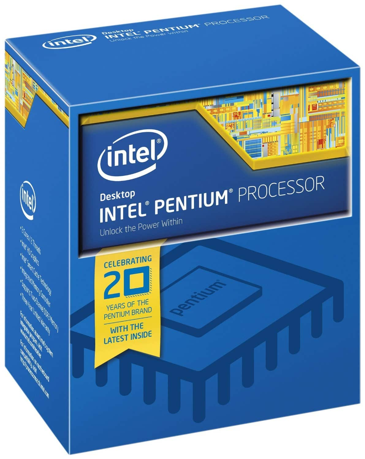 Intel Pentium Unlocked G3258 Dual-Core Processor  $49 + Free Shipping