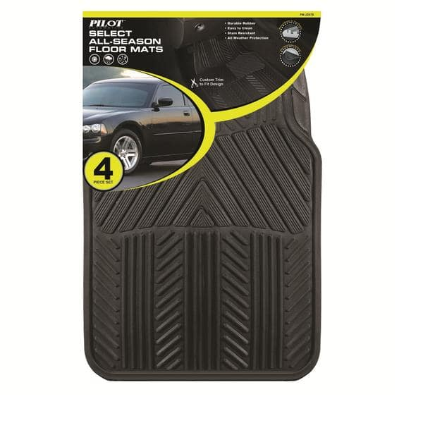 4-Piece Pilot Automotive All Season Rubber Floor Mat Set (various colors) $9.99 + Free Store Pickup ~ Sears