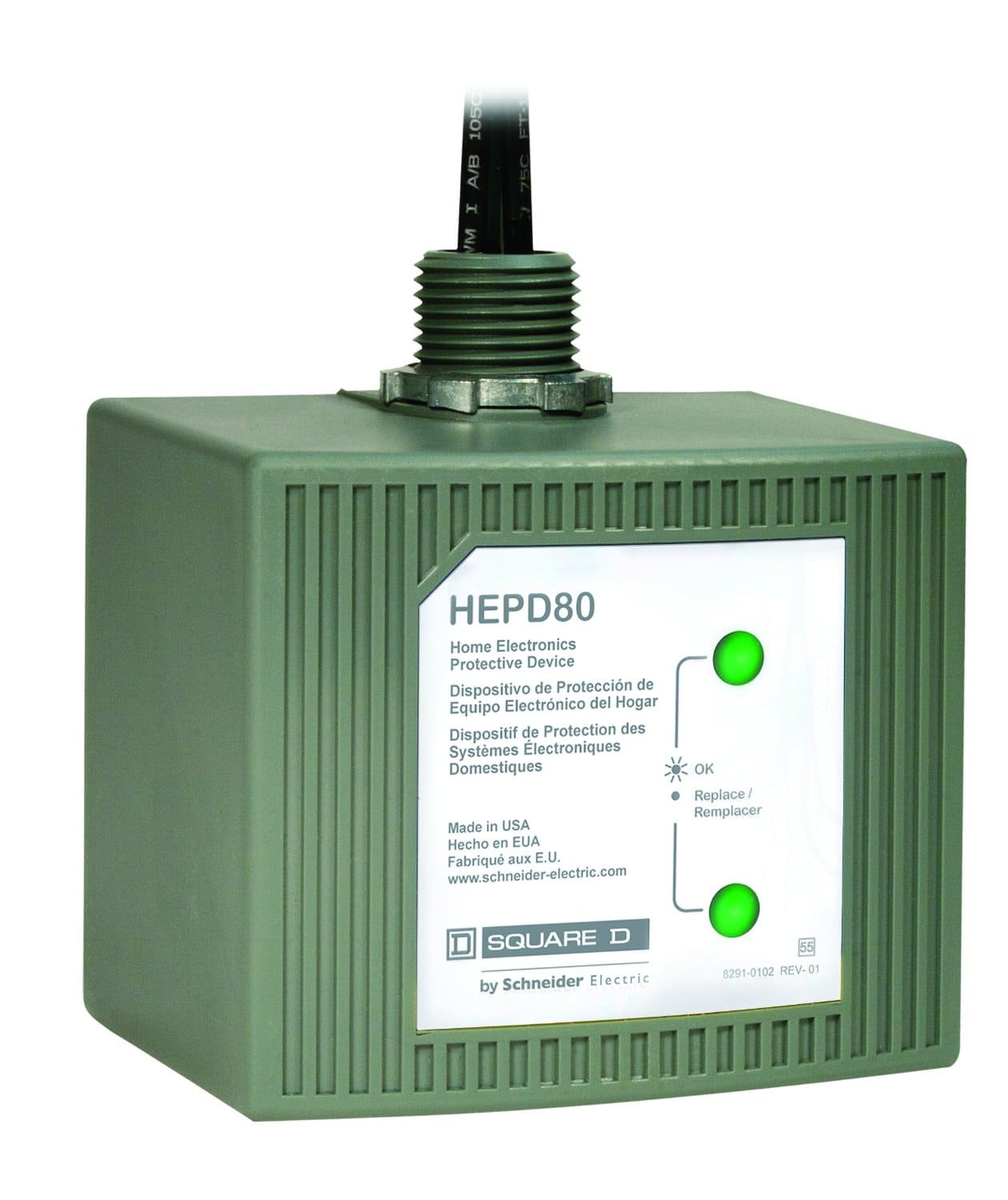 Square D by Schneider Electric HEPD80 Whole House Surge protector $75 amazon $70 AC homedepot