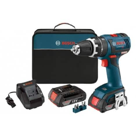 "Bosch 18V EC Brushless Compact Tough 1/2"" Hammer Drill Kit w/ 2 Batteries & Charger $144.95 + Free Shipping"