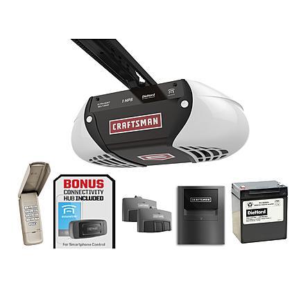 Craftsman 1HP Belt Drive Garage Door Opener with Bonus Internet Gateway + $48 SYW Points - $190