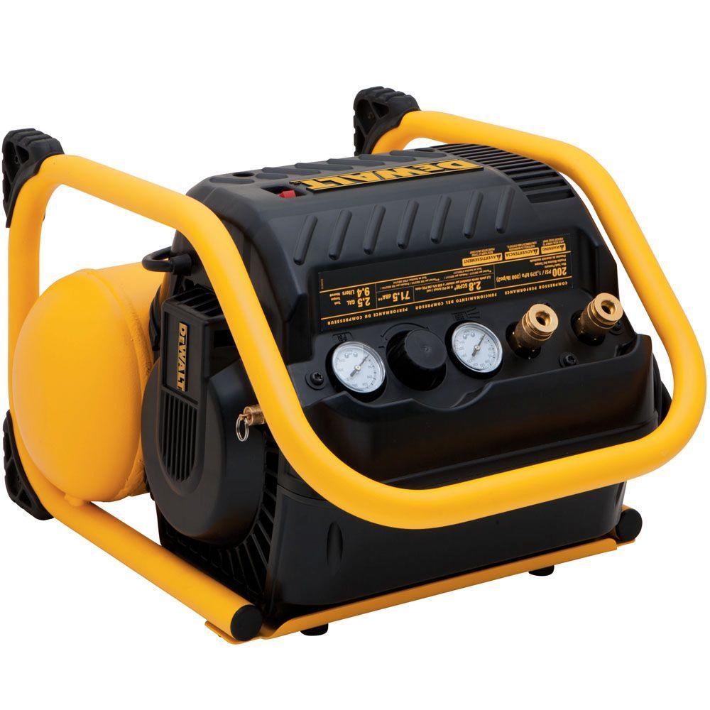 DEWALT 2.5 Gal. 200 PSI Quiet Trim Air Compressor - $139