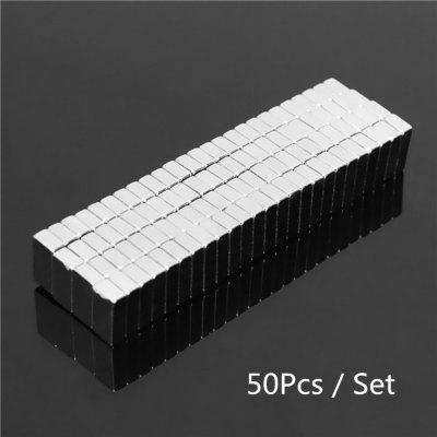 50-Piece 8 x 3 x 2 mm  Rare Earth Neodymium Magnets $0.99 + free shipping