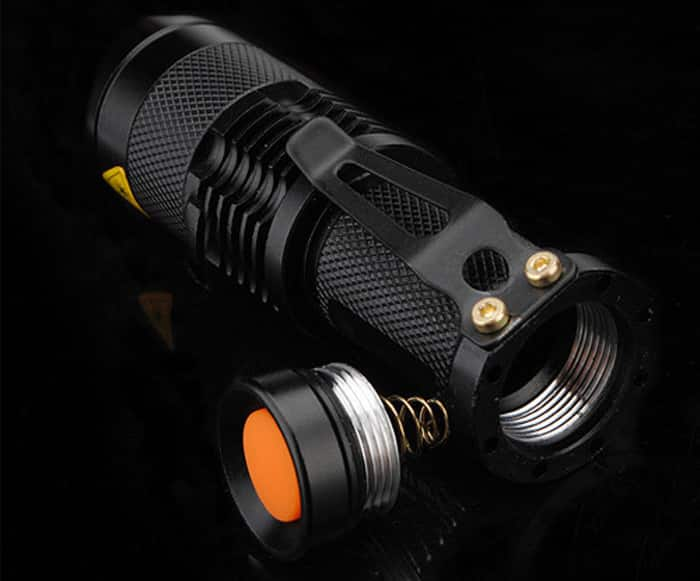 SK68 250LM Cree XP-E - Q5 Flashlight w/ Zoom $1.88 + free shipping