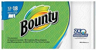 Bounty Select-A-Size Giant Roll Paper Towels, 12 Rolls $10.99 AC FS @ Staples.com
