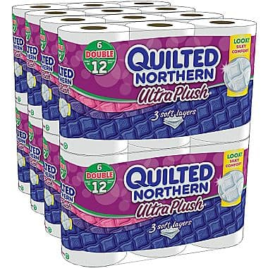 Staples Mobile iOS App: 48-Count Quilted Northern Double Roll Toilet Paper  $17 + Free Shipping