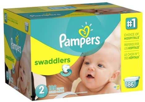Selected Pampers and other brands diapers ($25 gc with $100 purchase) + (20% off $75 on selected diapers) at Target