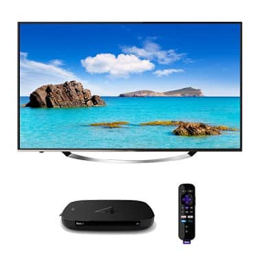 "Hitachi 55"" Ultravision 4K UHD TV w/ HDCP 2.2 & a Roku 4 at Sam's Club - $598"