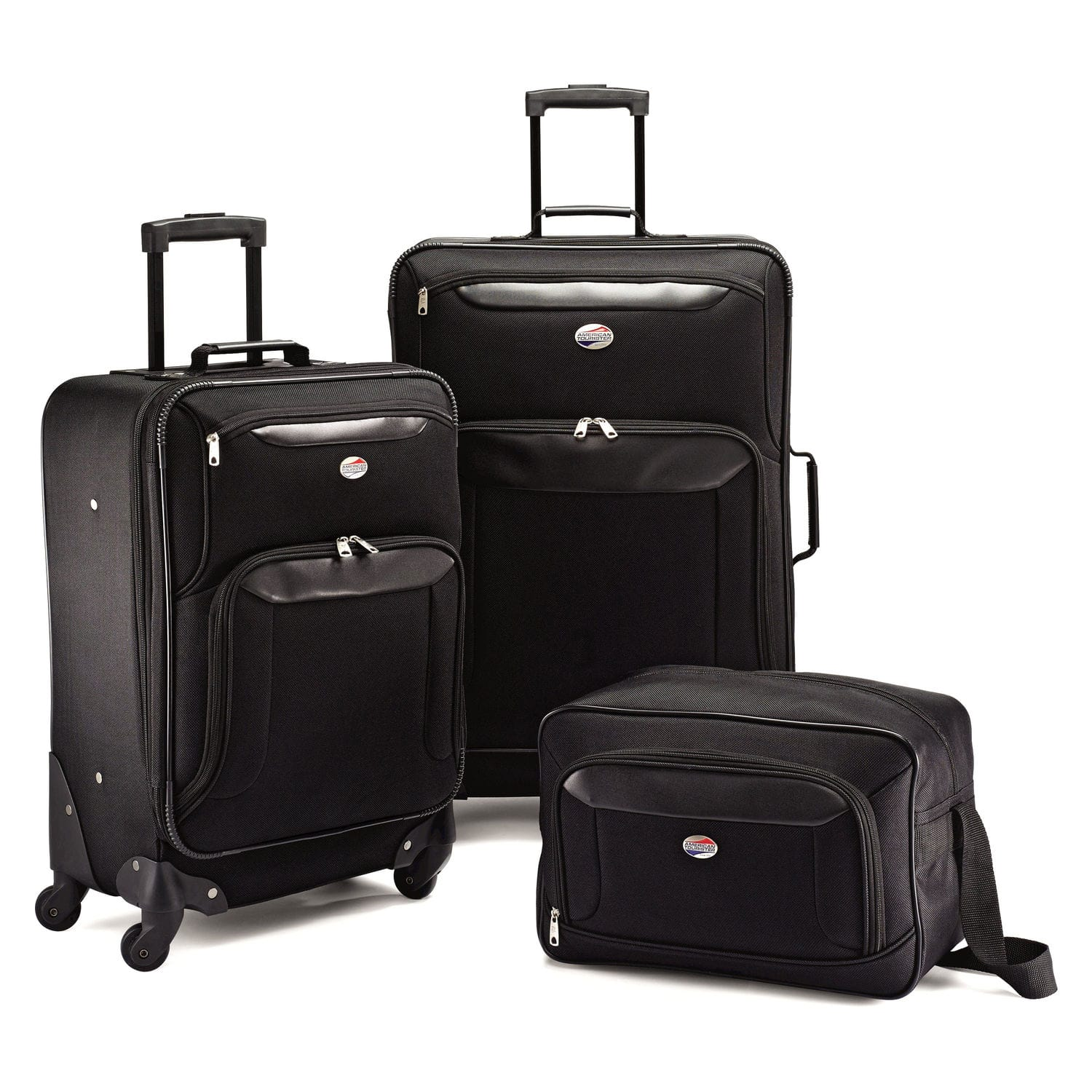 American Tourister Brookfield Luggage Set (Navy Blue or Black) 4-Piece $75 or 3-Piece $60 + Free Shipping