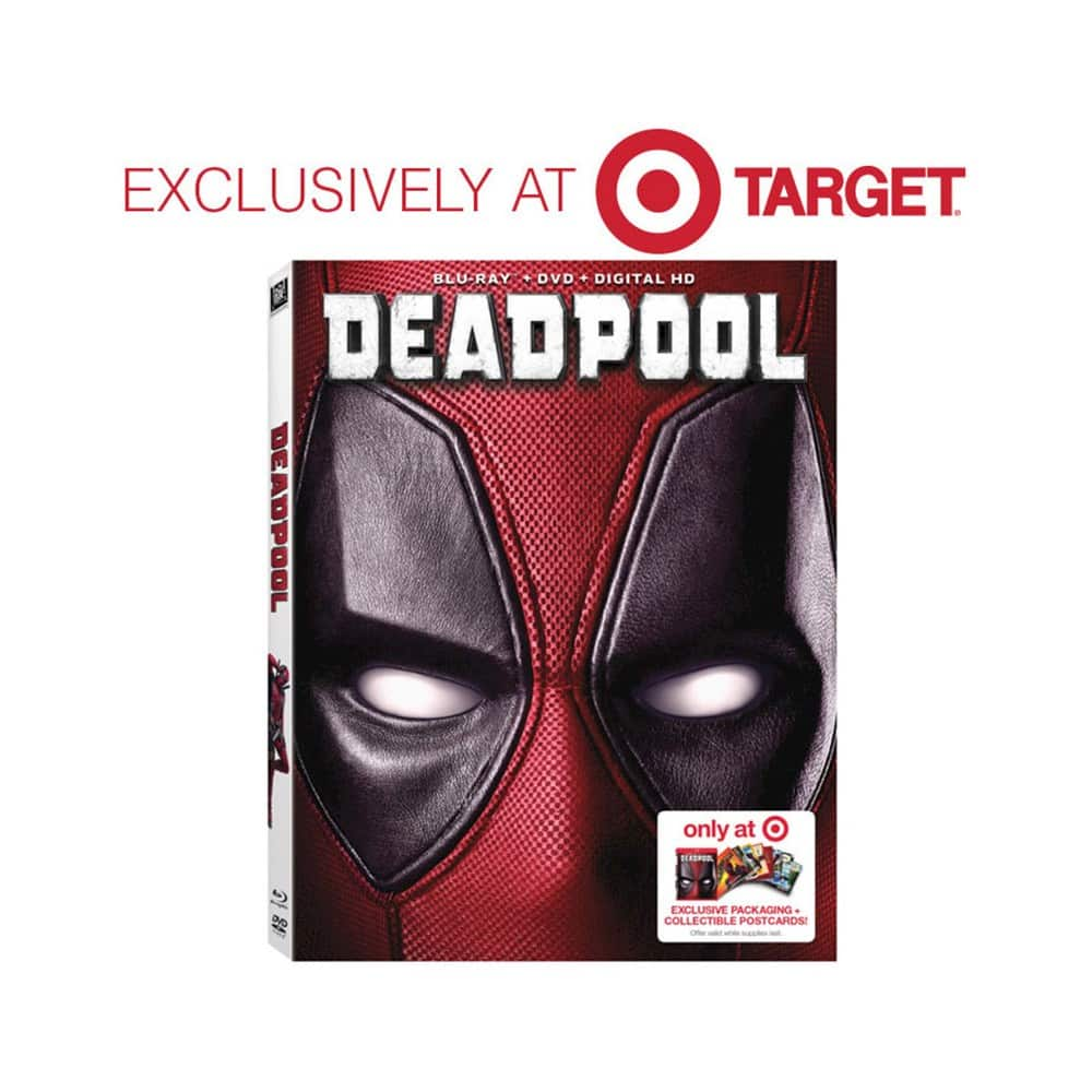 Deadpool (Blu-ray/DVD/Digital HD) Target Exclusive Packaging + Collectible Postcards + $5 gift card pre-order $22.99