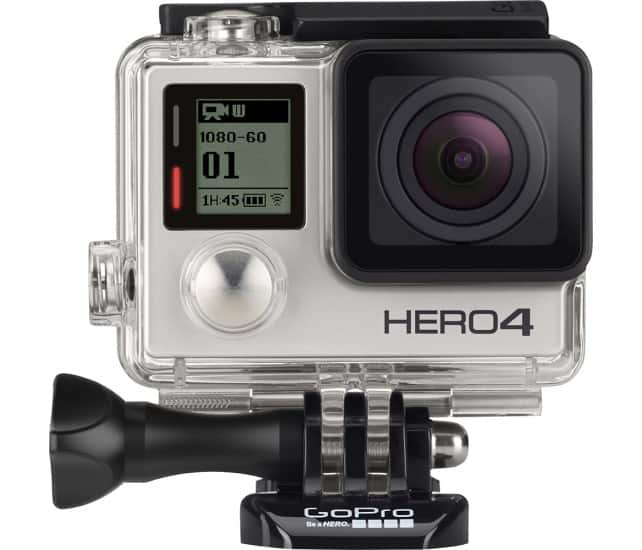 GoPro - HERO4 Silver Action Camera + Chest Mount + Head Mount $280.49 with .edu coupons at Best Buy