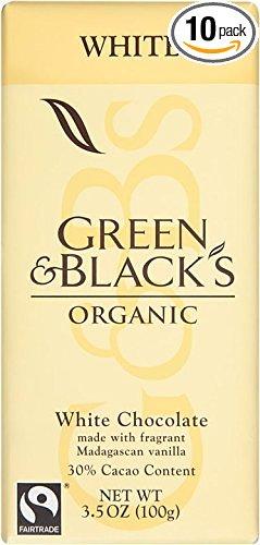 10-Pack 3.5oz Green & Black's Organic White Chocolate with Vanilla  $14.50 & More