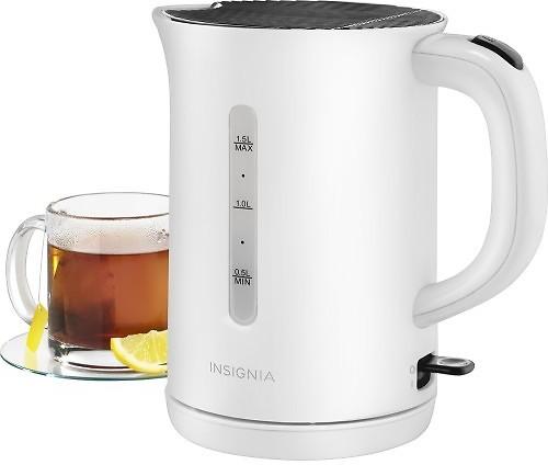 Insignia™ - 1.5L Electric Tea Kettle - Black $9.99 + ship @bestbuy.com