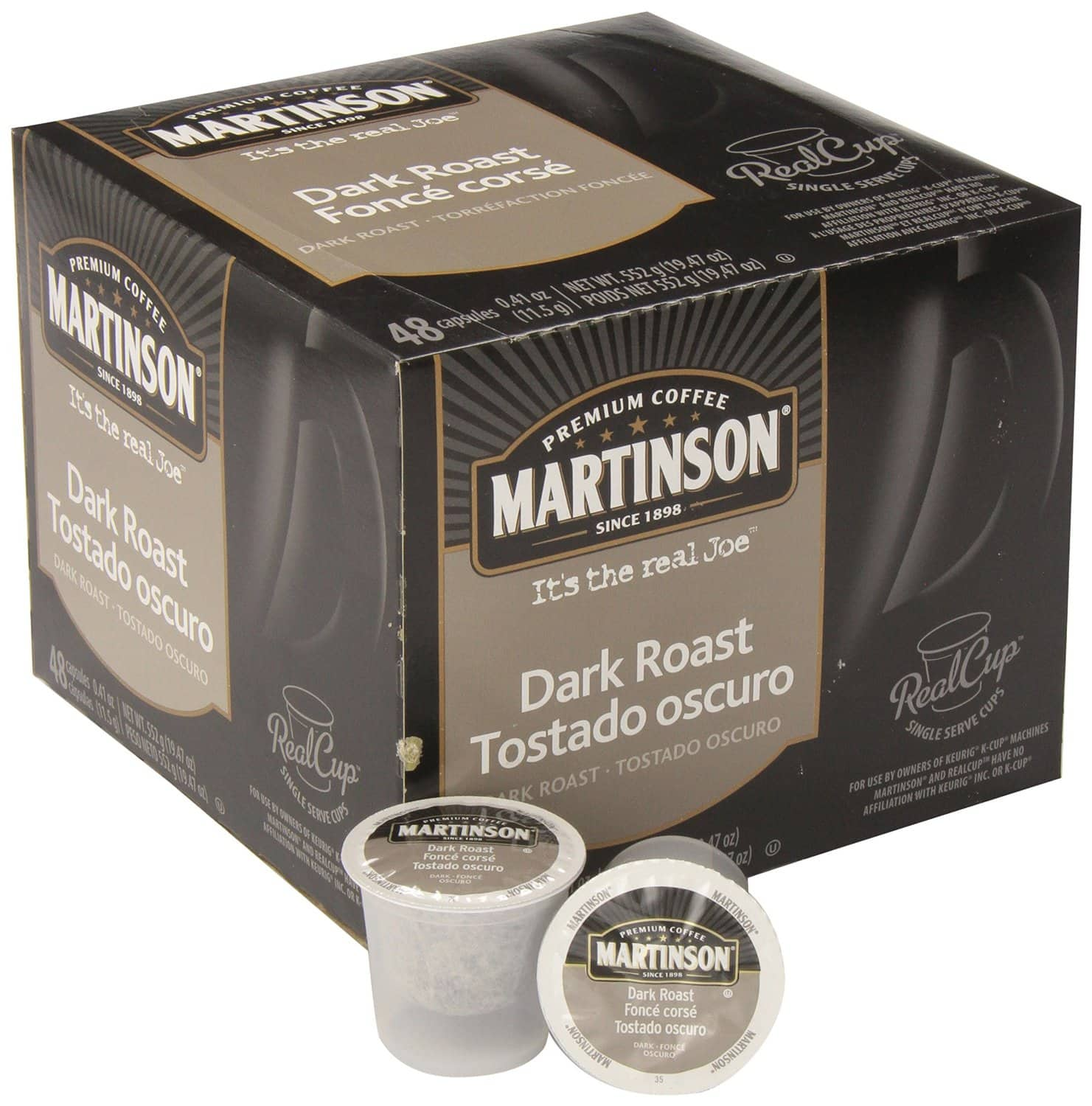 48-Pack Martinson Coffee Single Serve RealCup K-Cups from $13.70 + Free Shipping
