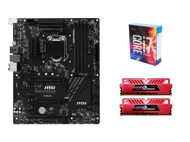 Intel Core i7-6700K Skylake 4.0 GHz Quad-Core CPU + MSI Z170A SLI LGA 1151 ATX MOBO + 16 GB (2 x 8 GB) GeIL EVO POTENZA DDR4 2400 Memory for $429.99 AR + FS @ Newegg.com