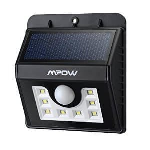Mpow 8-LED Solar Powered Wireless Security Light: 3 for $34, 2 for $23,  1 for $12