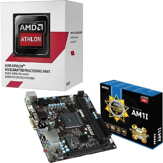 AMD Athlon 5350 Quad-Core CPU + MSI AM1 Mini-ITX Motherboard  $30 after $10 Rebate + Free S/H