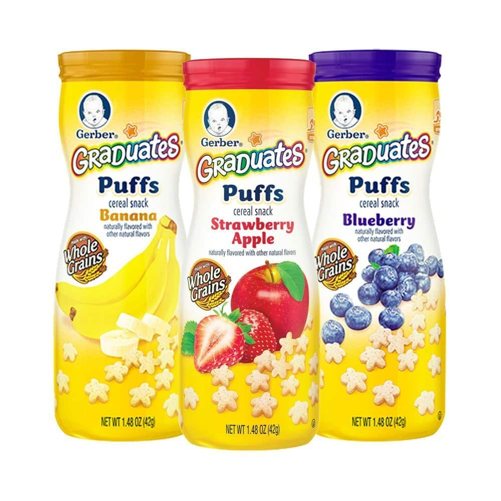 Gerber Graduates Puffs Cereal Snack, Variety Pack, 1.48 Ounce, 6 Count, $7.15 AC +15% S&S