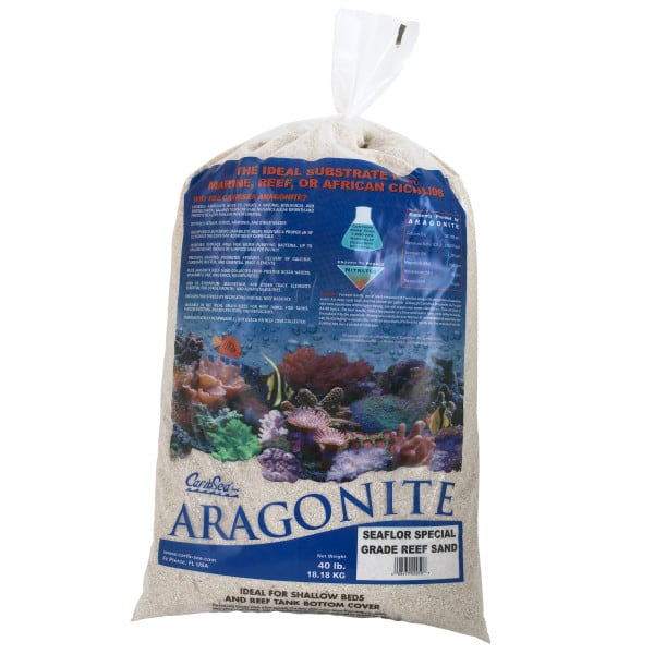 CaribSea Aragonite Aquarium Reef Sand 40 lb for Saltwater Marine Fish Tank $24.49 after 30% off Flash Sale. Free ship for $49+