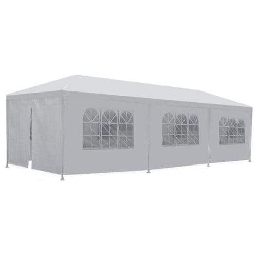 10'x30' White Outdoor Canopy Wedding / Party Tent w/ 8 Removable Walls + $8 in Rakuten Cash $79.99 + Free Shipping