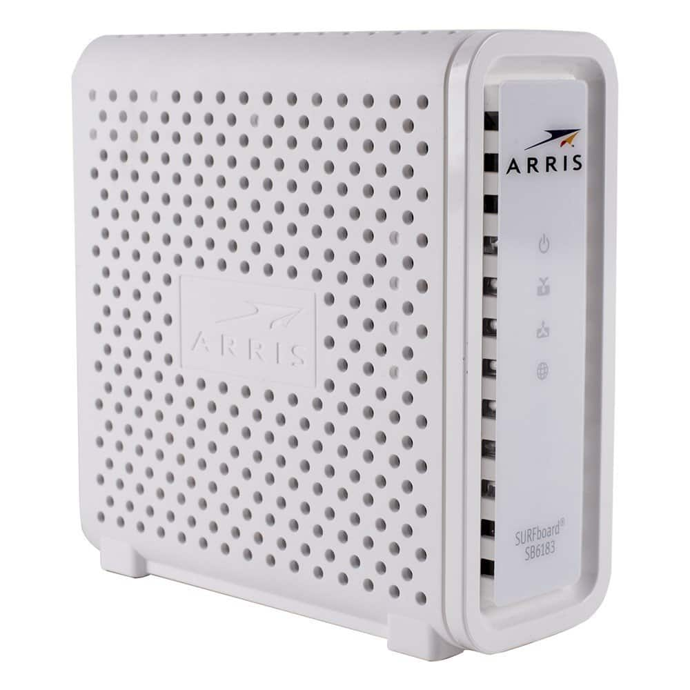 ARRIS SURFboard SB6183 DOCSIS 3.0 Cable Modem - White (Certified Refurbished)  $59 with free shipping