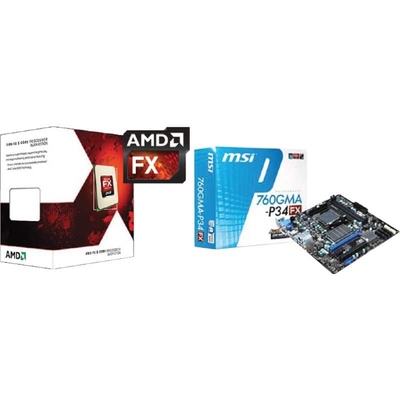 AMD FX-6300 6-Core 3.5GHz AM3+ CPU + MSI 760GMA-P43 Motherboard Combo $100AR@Frys