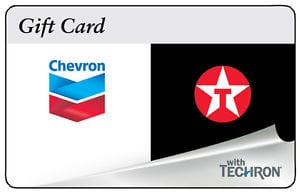 $100 ChevronTexaco Gift Card for $92. Free Shipping.