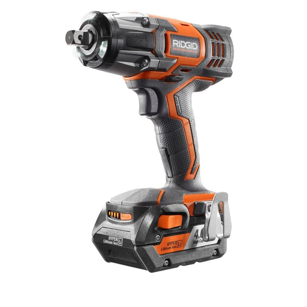 ridgid 18v cordless impact wrench kit with 4ah battery $139 + free S/H @ Home Depot