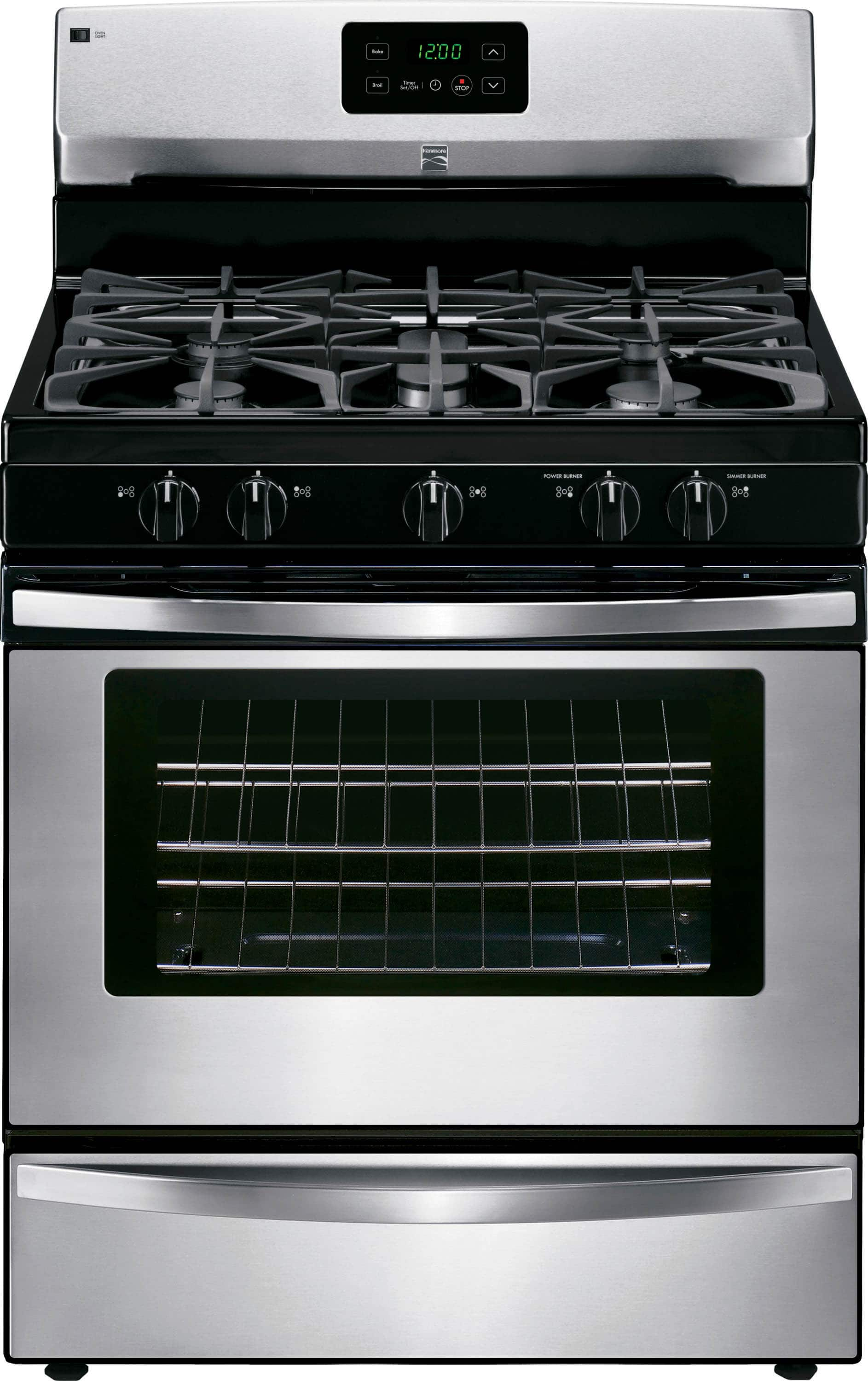 Kenmore 4.2 cu. ft. Stainless Steel Gas Range Oven w/ Broil & Serve Drawer $399 + Free Store Pickup