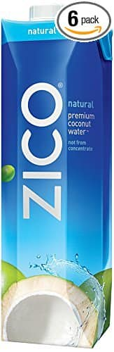 "ZICO Premium Coconut Water, Natural, 33.8 fl oz (Pack of 6) for $11.28 with S&S and ""clipped ""Amazon coupon for 35% off"