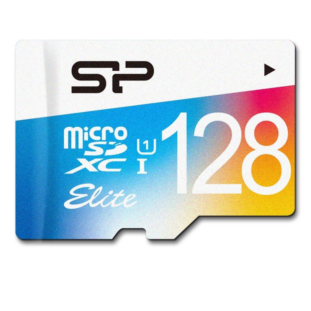 128GB Silicon Power Class 10 microSDXC Memory Card w/ Adapter  $25