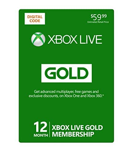 $39.99  ~ Xbox Live 12 Month Gold Membership - Digital Code @ Amazon